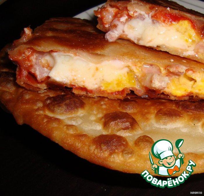 Лепешки-пиццы - сказать что вкусные, ничего не сказать, просто обалденные