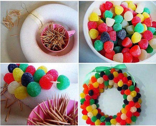 Украшения из сладостей своими руками