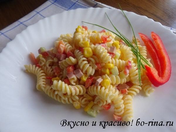 Вкусно и красиво!  Макаронный салат — Nudelsalat
