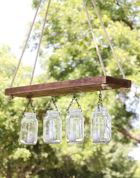 Садовые подвесные люстры на деревянной основе фото