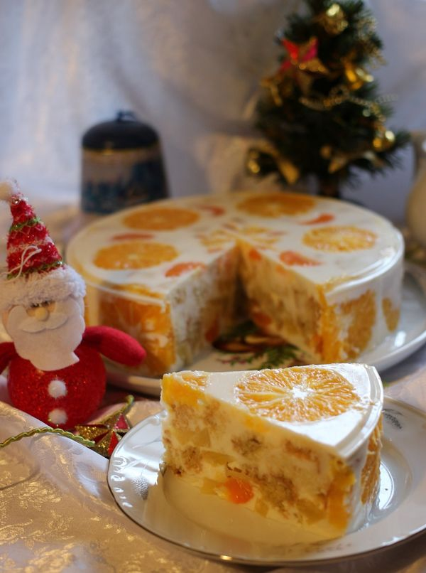 Желейный торт Новый год