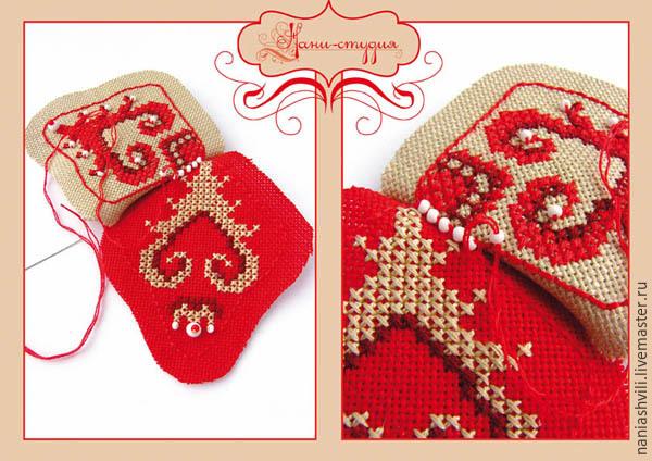 Оригинальная текстильная звезда на Новый год. МК