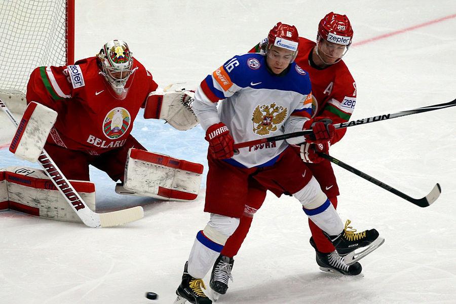Сборная России по хоккею разгромила Белоруссию со счётом 7:0