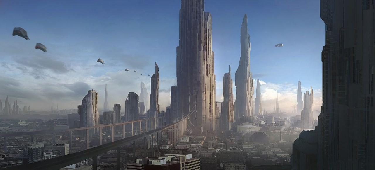 Города будущего: 20 фантастических иллюстраций будущее, город, иллюстрация, фотошоп, фэнтези