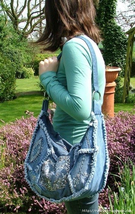 Модные сумки из старых джинсов (30) (444x700, 313Kb)
