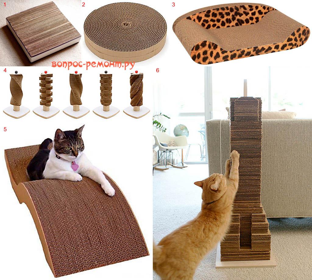 Когтеточки для кошек своими руками из картона