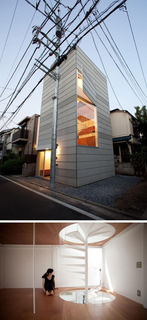 9. Маленький домик в Токио вместительность, дом, размер