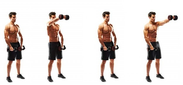 Топ-100: упражнений с использованием 10-ти килограммовых гантелей