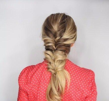 Причёска на основе резиночек