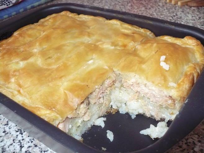 Рыбный пирог рецепт с фото пошагово