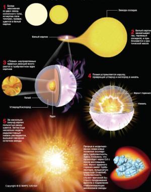 Сверхновые звёзды. История, развитие моделей.