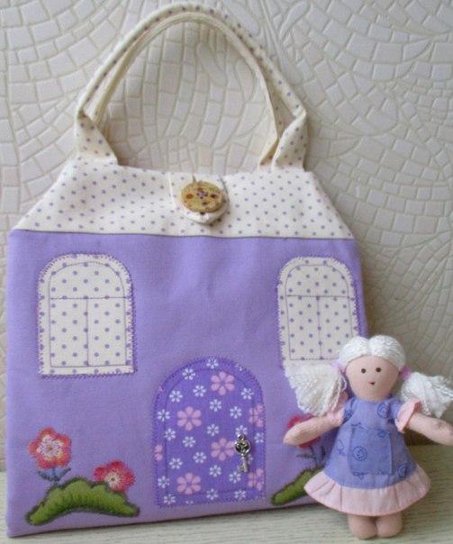 Домики-сумочки для куколки от Ольги Вайды