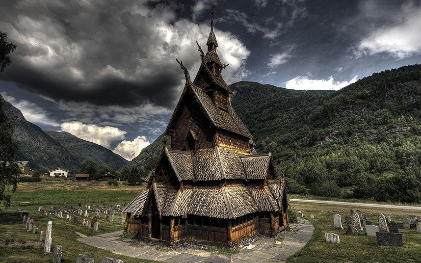 Деревянная церковь Боргунд, Норвегия