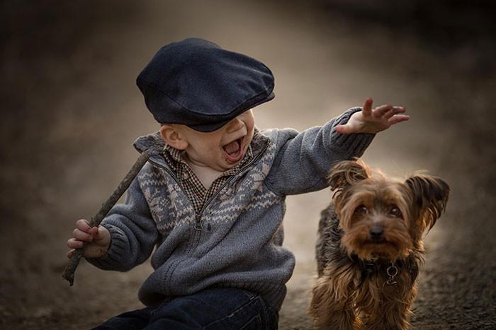 Самые веселые прогулки  дружба, ребенок, собака