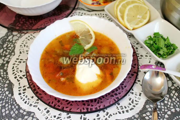 Солянка с курицей рецепт пошагово