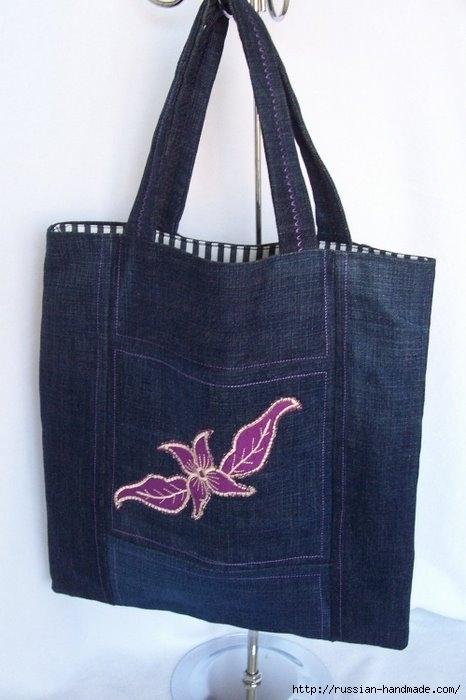 Модные сумки из старых джинсов (6) (466x700, 138Kb)