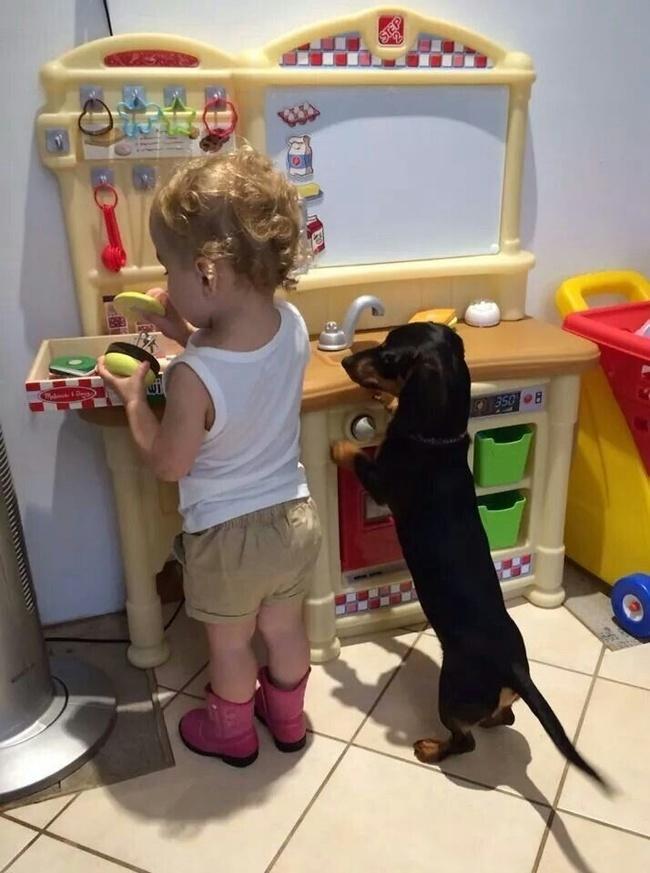 Дети с домашними питомцами