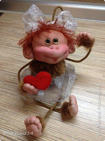 Игрушка Мастер-класс Новый год Шитьё МК по обезьянке Капрон Проволока Пряжа Ткань фото 1