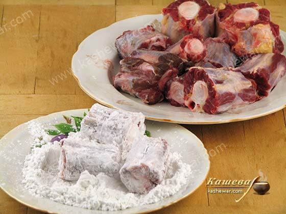 Подготовка говяжьего хвоста для рагу