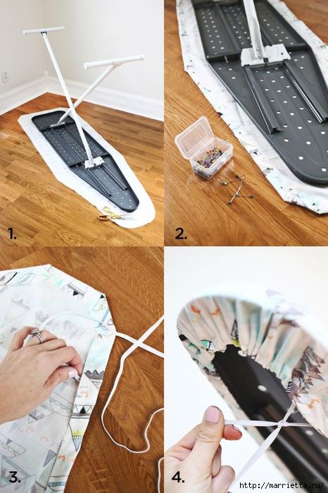 Как сшить чехол на гладильную доску своими руками видео