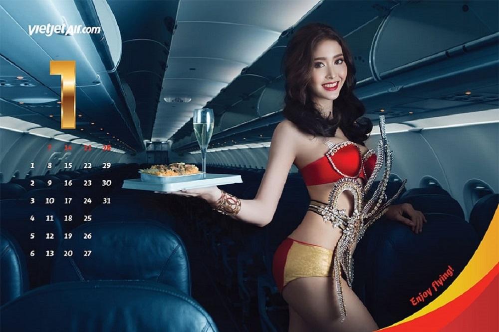 Вьетнамская авиакомпания выпустила «бикини-календарь»