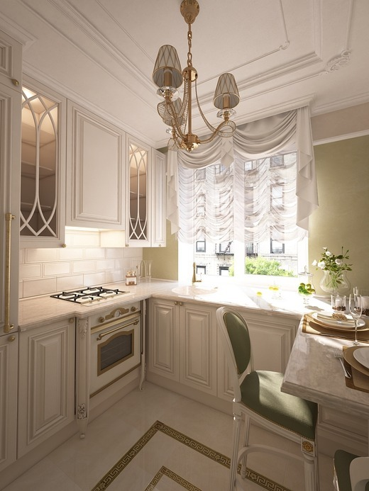 Кухня в стиле прованс в хрущевке фото интерьер