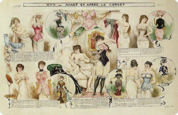 Корсеты Викторианской эпохи