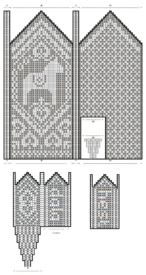 Вязание варежек с рисунком 49