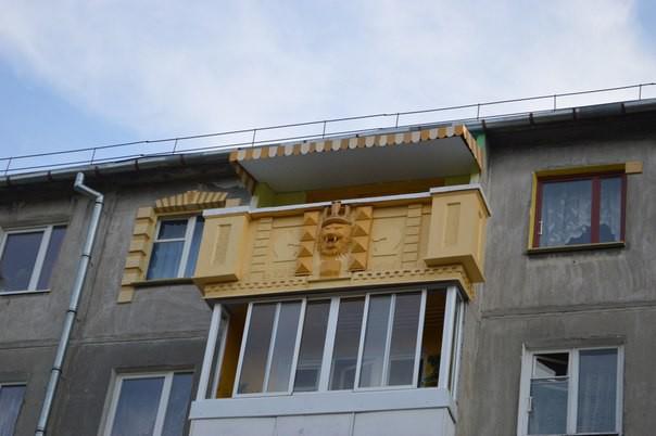 1. Египетская сила! балкон, дизайн, креатив