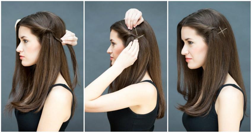 Какую сделать прическу если волосы средней длины