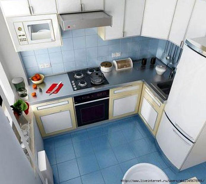 Обустройство интерьера маленькой кухни: советы и решения