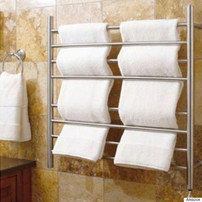 Вешалка для полотенец с обогревом ванна, дизайн, креатив