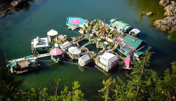 плавучий дом-остров