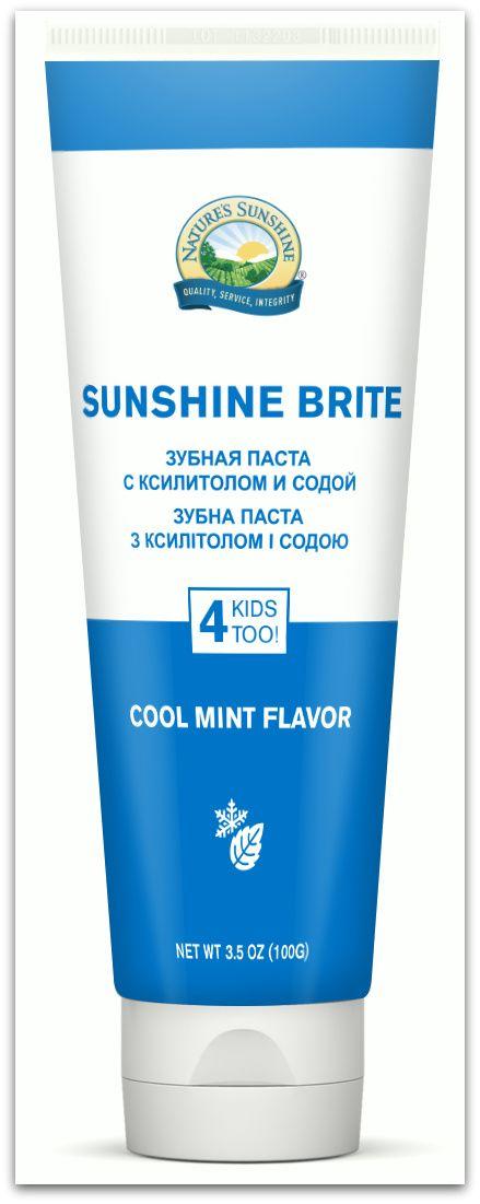 Зубная паста Саншайн Брайт NSP с ксилитолом и содой «Яркий вкус мяты»!