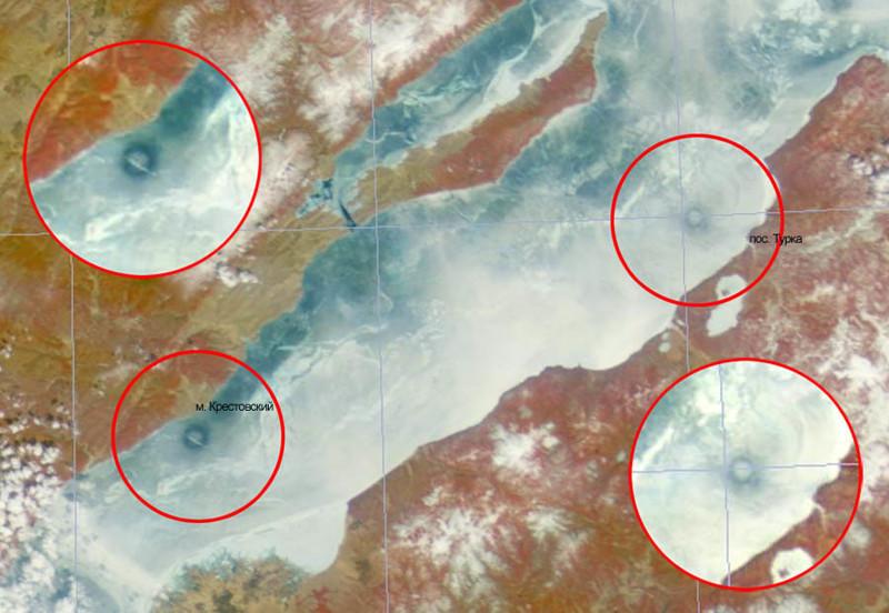 5. Огромные кольца на льду. байкал, загадки, озеро
