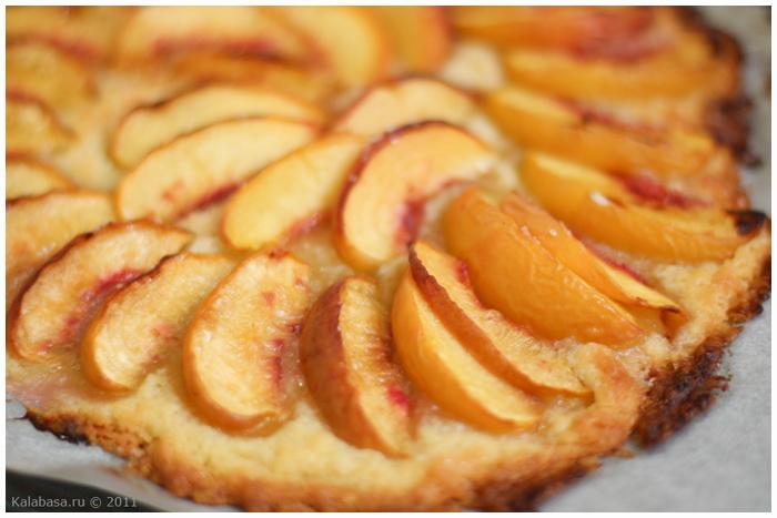 быстрый персиковый пирог фото рецепт