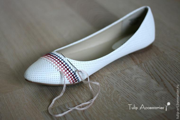 Обновляем балетки при помощи вышивки. МК