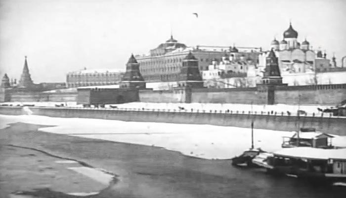 Историческое видео: заснеженная Москва более 100 лет назад