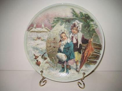 """Тарелки ручной работы. Ярмарка Мастеров - ручная работа Тарелка """"Винтажная""""(продана). Handmade."""