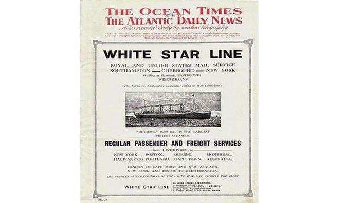 1. На «Титанике» выходила своя газета – «Антлантик Дэйли Бюллетень». интересно, кораблекрушение, титаник