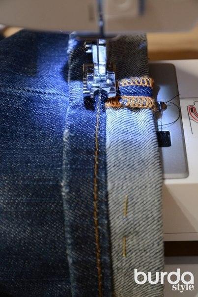 ШЬЕМ, ШЬЁМ, ШЬЁМ... Подгибка джинсов с сохранением фабричной отстрочки