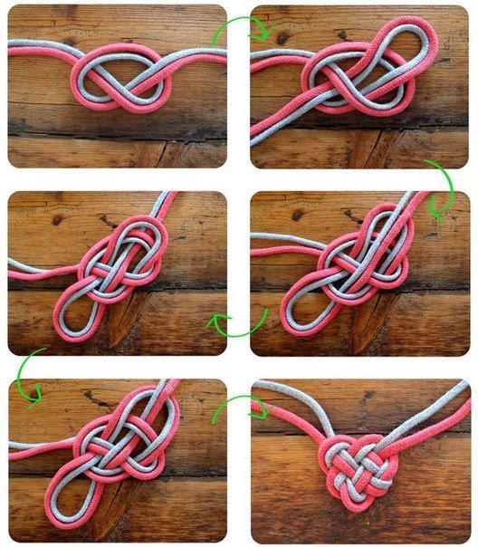 схема плетения сердечка из веревок