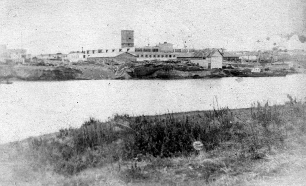 1954-1956гг.Строительство льнокомбината им.С.М.Кирова
