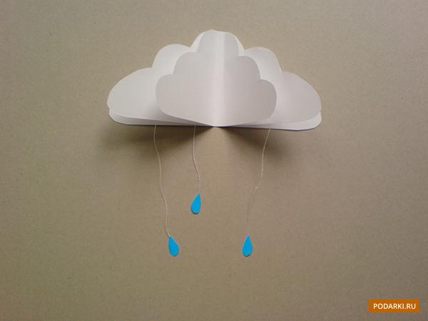Как сделать дождик из картона