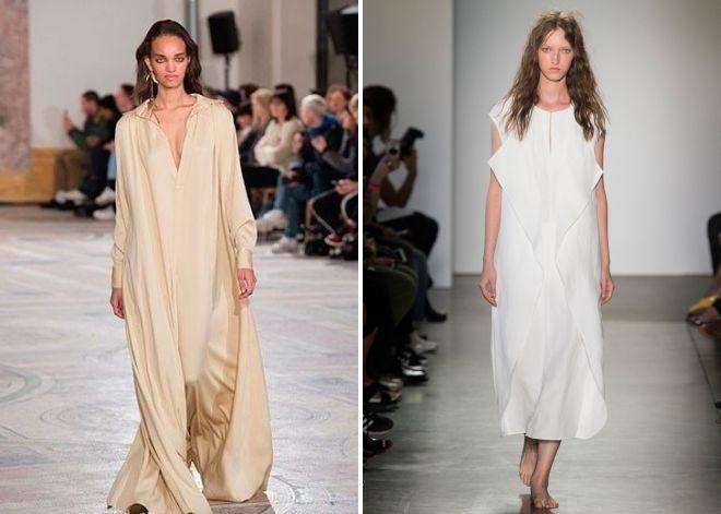 белое платье балахон