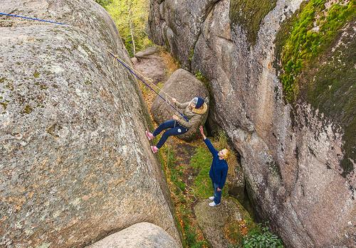 Спуск со скалы высотой 96 метров