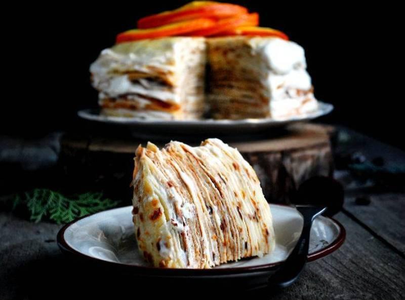 Блинный торт оригинальный необычный рецепт