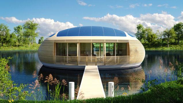 Уникальный плавучий дом из у…