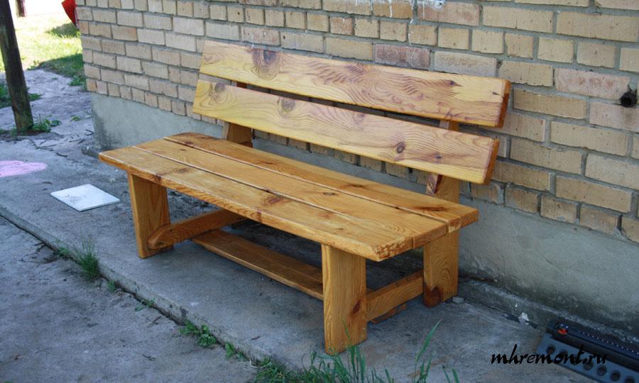 Фото готовой скамейки