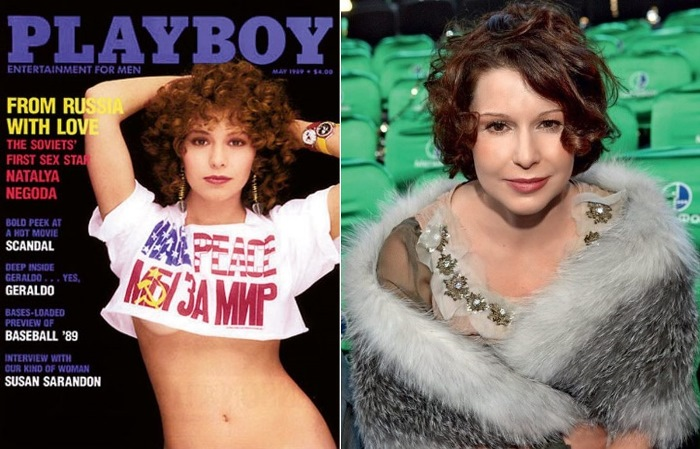 Наталья Негода в 1989 г. и в 2010 г.